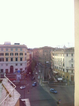 Residenza Paolo VI:                   View from our room window