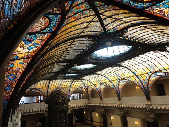 Gran Hotel Ciudad de Mexico:                   stained glass ceiling from 3rd floor