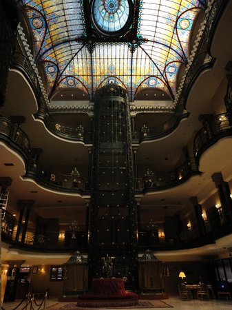 Gran Hotel Ciudad de Mexico:                   view from lobby of elevators (they have other ones too)