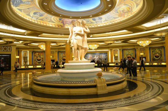‪‪Caesars Palace‬:                                     one of the many foyers in Caesars