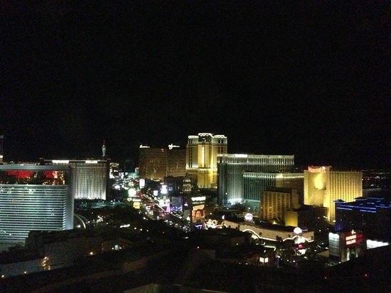 Caesars Palace:                                     View of strip from our room