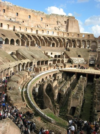 Kiron's Roman Holiday Day Tours:                   Inside the Coliseum