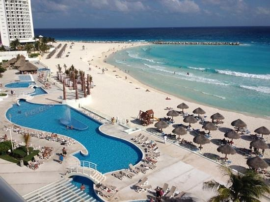 Krystal Cancun:                   Vista do 5 andar