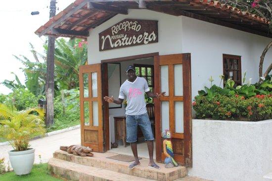 Hotel Pousada Natureza:                   Recepcion