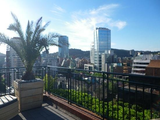 The Ritz-Carlton, Santiago:                   City view from the rooftop terrace