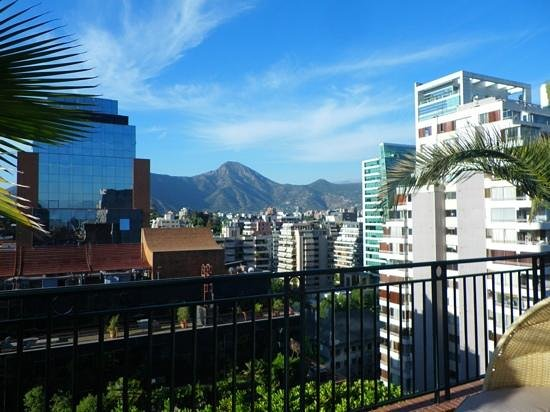 The Ritz-Carlton, Santiago:                   Mountain view from the rooftop terrace