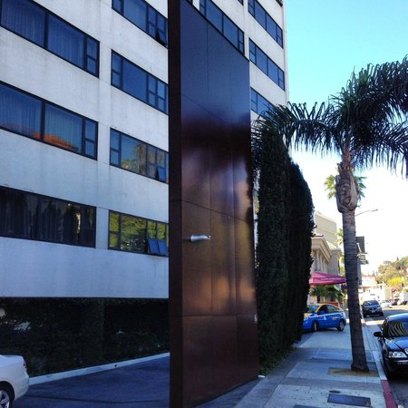 Glitterati Tours: Entrance to The Mondrian Hotel in West Hollywood.