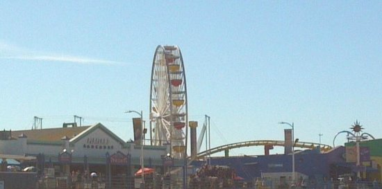 Glitterati Tours: The ferris wheel on the Santa Monica Pier during a tour of Malibu and Venice.