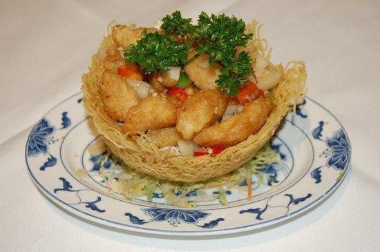 China Palace:                                     Chicken with garlic & chilli