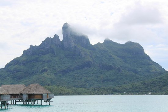 Four Seasons Resort Bora Bora:                   mountain view from bungalow