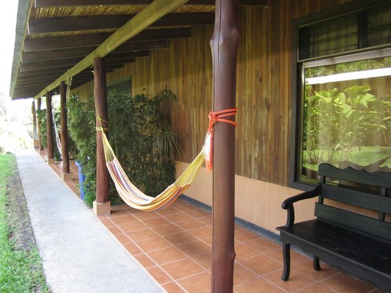 Catarata Eco Lodge S.A:                   Hammock outside our room