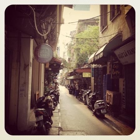 Hanoi Elegance Ruby: charming street