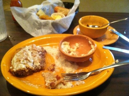 Barbara Jean's:                   that is just half of the country fried steak!
