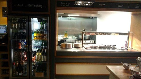 Premier Inn London Leicester Square Hotel:                   Soft drinks, beer and hot buffet.