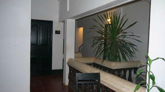 The Moon Villa: The corridor to the rooms
