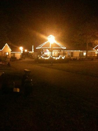The Colonial Inn at Historic Smithville:                   View from our porch at night (The Johnson Suite 201)