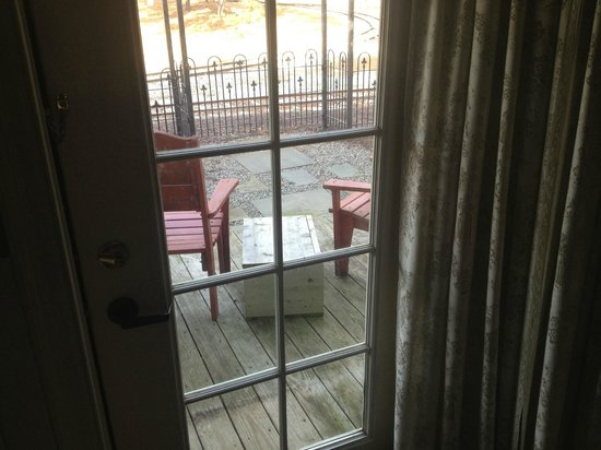 The Colonial Inn at Historic Smithville:                   Back Deck/Porch (The Johnson Suite 201)