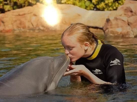 Discovery Cove:                   First teenage kiss! ;-)