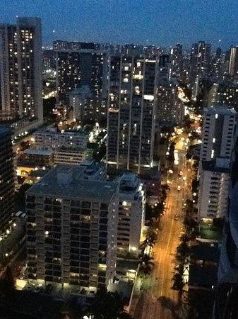 Hilton Waikiki Beach:                                     night view