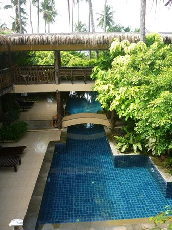 Phra Nang Inn:                   pool view from the second floor