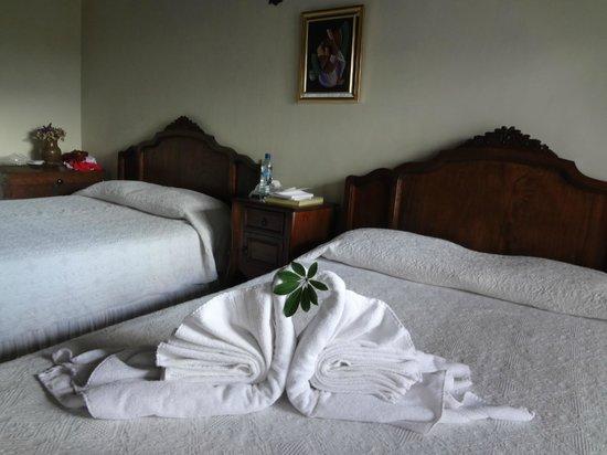 Hotel Casa Noble:                   Cada día cambiaban las figuras que hacían con las toallas
