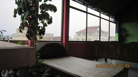Bun Kao Guesthouse:                                     Rest Area on the top floor.