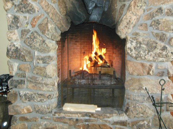 Spring Creek Ranch: The way my fireplace stayed the entire time I was in my room...LIT and ROARING!