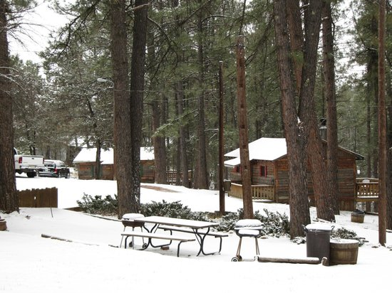 Idle Hour Lodge:                   Christmas Snow...