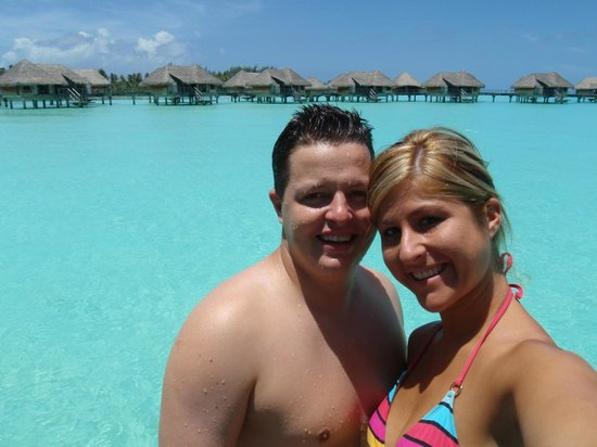 InterContinental Bora Bora Resort & Thalasso Spa:                   my wife and I on our personal jetty