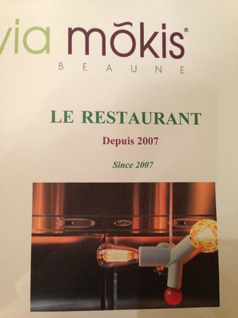 Hotel Via Mokis: menu