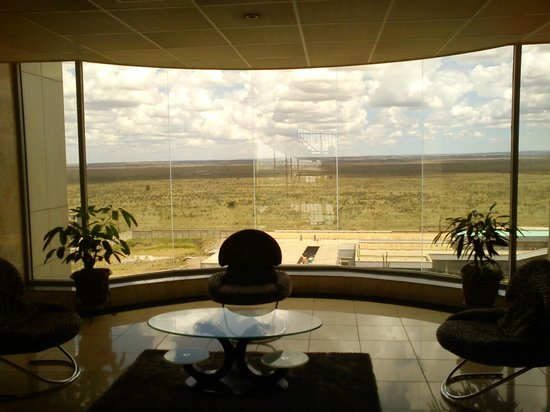 The Panari Hotel: View of the Nairobi national park from the lobby