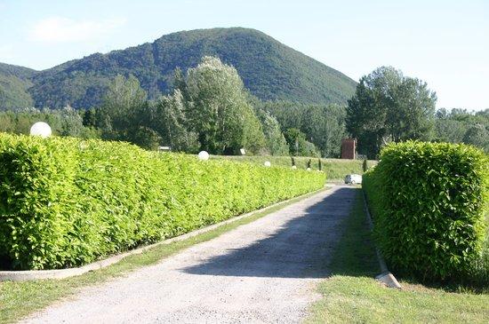 Villa Pardi Lucca:                   Straße zur Villa