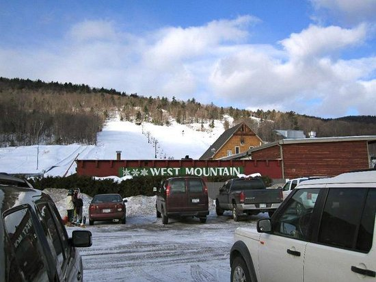 West Mountain Ski Resort:                   from the parking lot