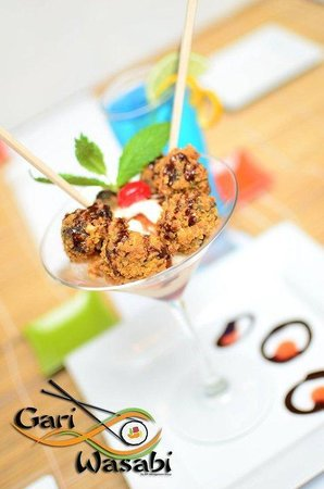 Gari and Wasabi Sushi and Japanesse Cuisine :                                     Fried Brownie Dessert