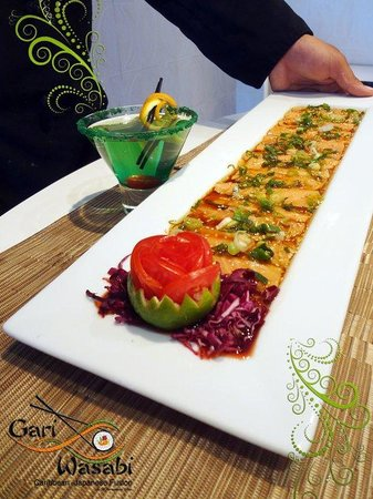 Gari and Wasabi Sushi and Japanesse Cuisine :                                     Salmon Carpaccio