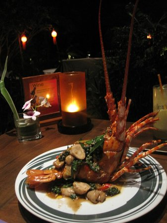 Melati Beach Resort & Spa:                   Lobster at the top restaurant