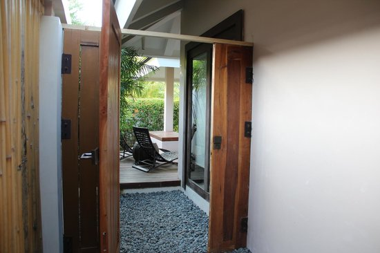 Amorita Resort:                   gate from shower area to plunge pool