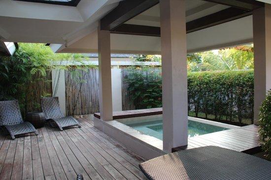 Amorita Resort:                   plunge pool at day time