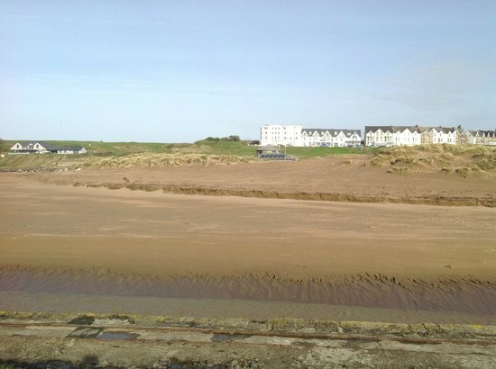 Brendon Arms:                   Looking across Summerlease Beach yesterday which is a two minutes from the Bre