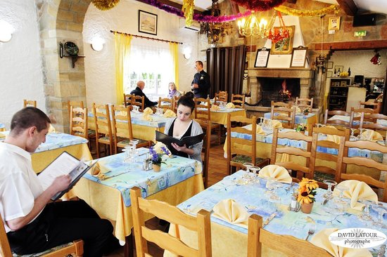 Restaurant le Grand Chene: Salle de restaurant pendant l'Hiver