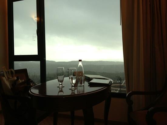Carmel Forest Spa Resort by Isrotel Exclusive Collection :                   view from carmel room at a winter evening