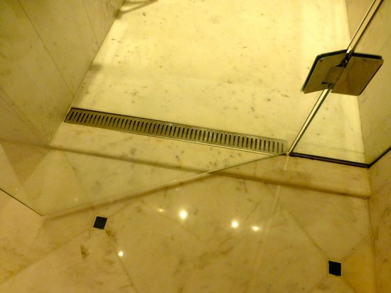 Belmond Copacabana Palace:                   Shower door hung too low, sticking on marble.