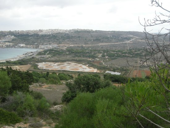 Mellieha Holiday Centre: View from the terrace on top of the bungalow
