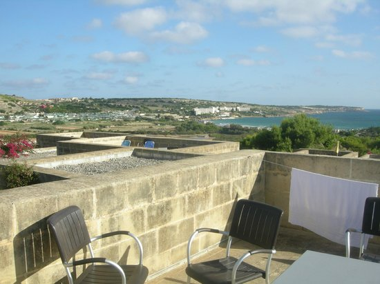 Mellieha Holiday Centre : View from the terrace on top of the bungalow