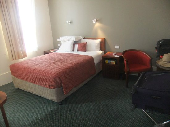 The Victoria Hotel:                   The bedroom was clean and comfortable