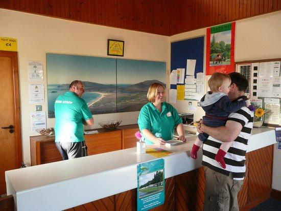 Keel Sandybanks Caravan & Camping Park: Reception
