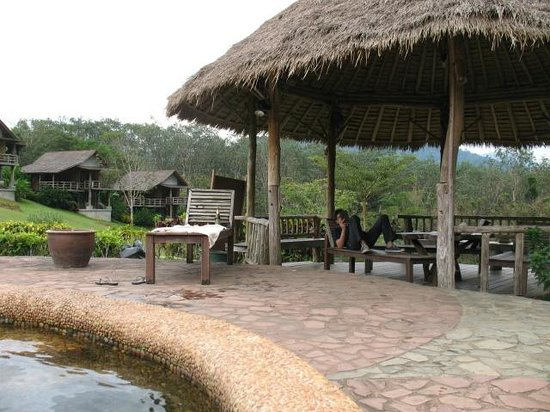 The Cliff & River Jungle Resort:                   Pool area