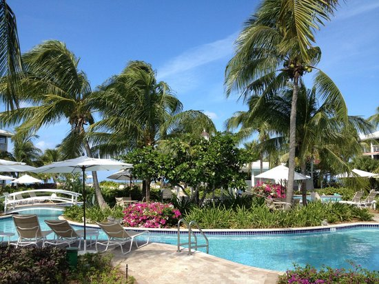 Ocean Club West:                   Another view of the pool and tropical garden