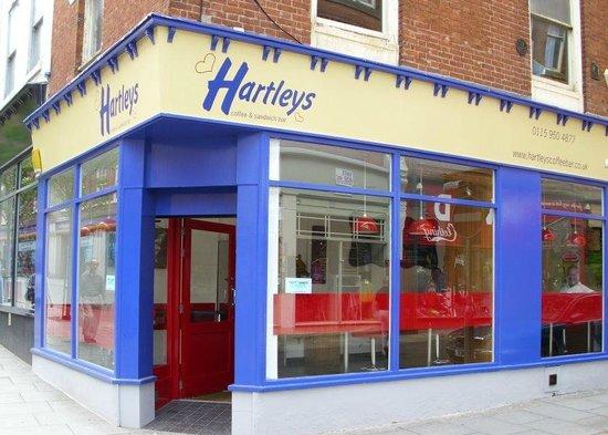 Hartleys Coffee & Sandwich Bar : Hartleys - on the corner of Broad Street/Carlton Street