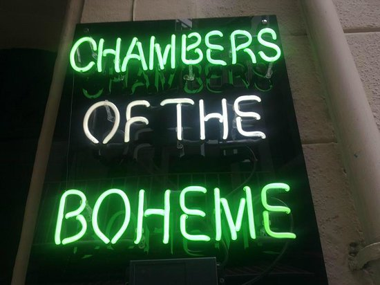 Chambers of the Boheme: Sign